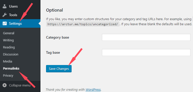 Step 2 - How to change a custom taxonomy slug